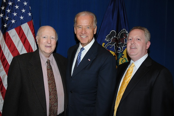 Adam Bonin with US Vice President Joe Biden